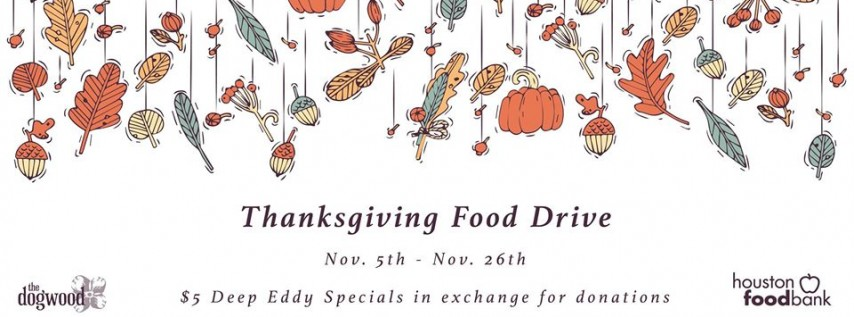Thanksgiving Food Drive at The Dogwood