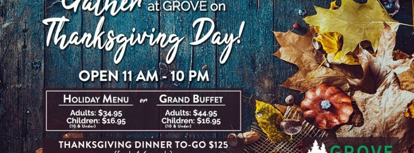 Thanksgiving Day Dinner & Grand Buffet