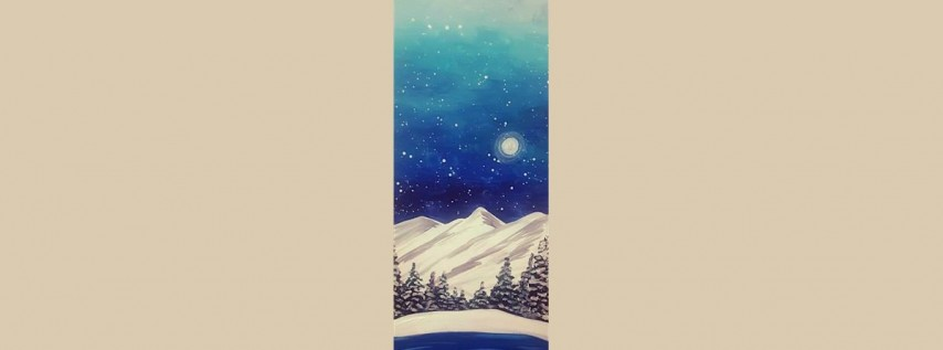 Snowy Colorado 10x30 Canvas Class