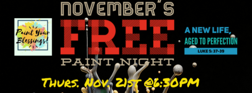November's FREE Paint Night- Paint Your Blessings
