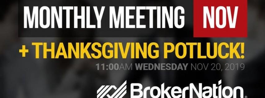 BrokerNation Monthly Meeting - NOV 2019