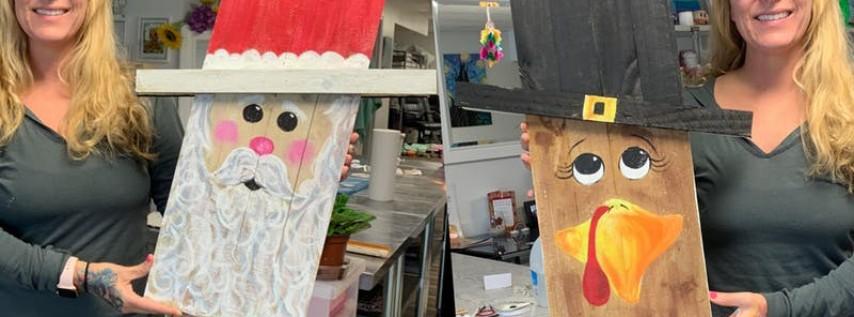 Turkey/Santa: Glen Burnie, Sidelines with Artist Katie Detrich!