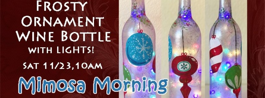 Wine Bottle-Frosty Ornament with Lights!
