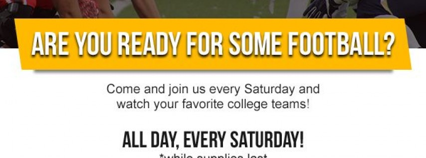 College Football Specials - Every Saturday!
