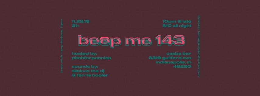 Beep Me 143 @ Casba