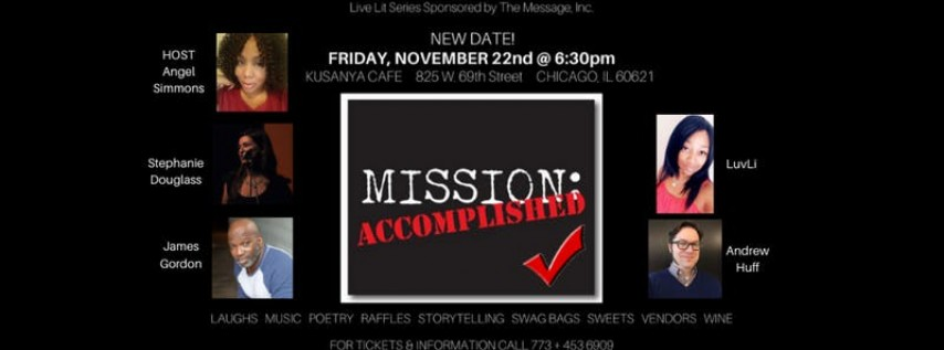 Verses, Vibes & Visions Live Lit Series: 'Mission ACCOMPLISHED!'