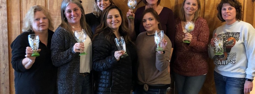 New Class! Join us for our Wine and Beer Glass Painting Party at Books & Brews Noblesville on 11/21 @ 730pm