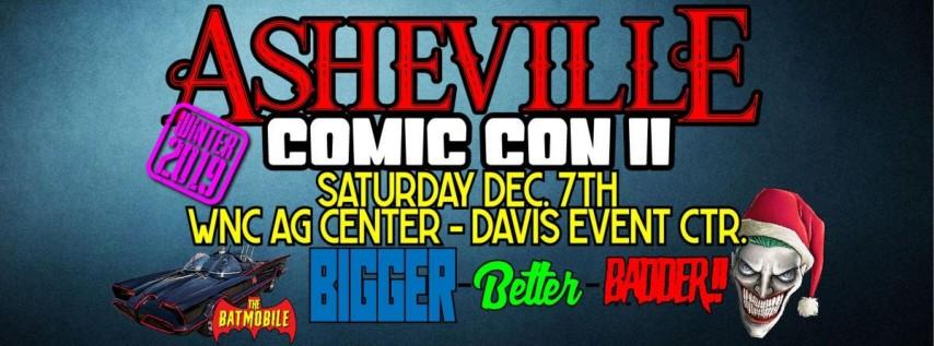 Asheville comic con December 7th 2019