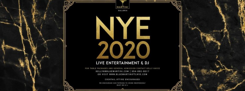 New Year's Eve 2020 at Blue Martini Fort Lauderdale