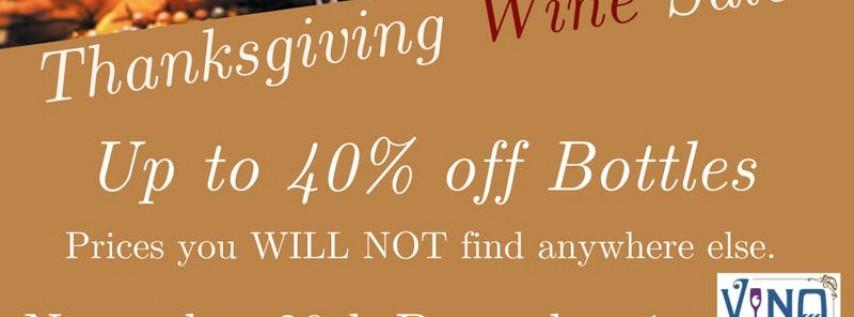Thanksgiving Wine Sale at V-NO