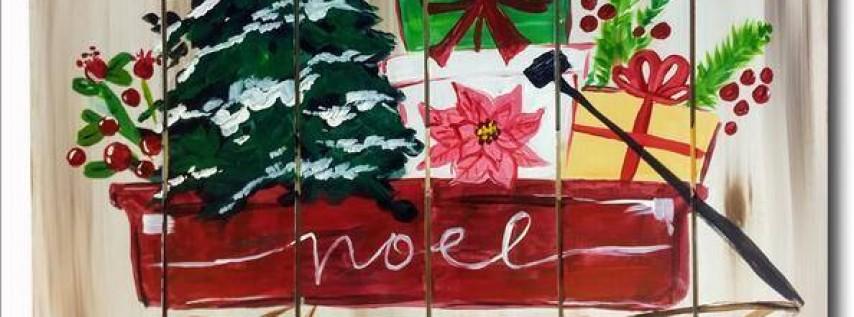 My Little Christmas Wagon Pallet
