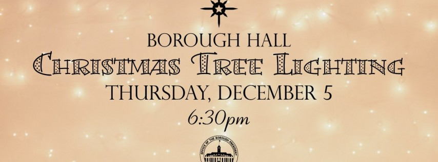 Christmas Tree Lighting at Borough Hall