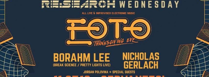 Wed! 11/27 • RE:Search ft EOTO w/ Borahm Lee, Nicholas Gerlach
