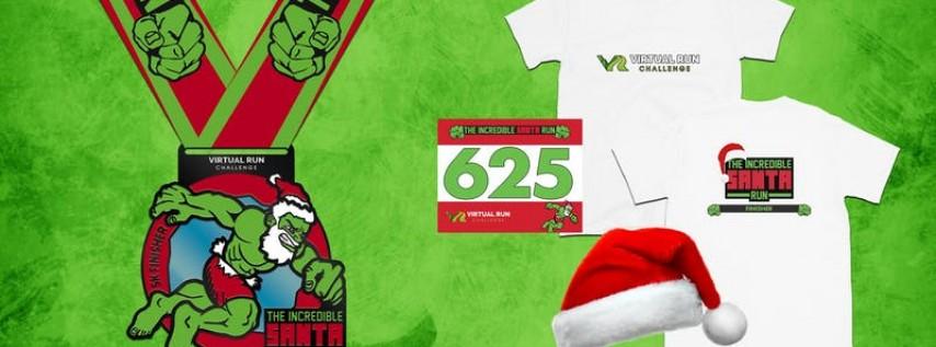 2019 - Incredible Santa Virtual 5k Run Walk - Jersey City