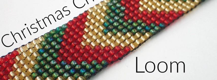 Christmas Chevron Loom Bracelet