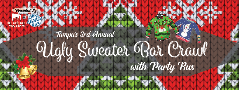 Tampa's Ugly Sweater Bar Crawl with Party Bus