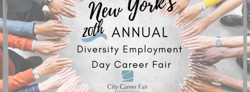 NEW YORK'S 20th ANNUAL DIVERSITY EMPLOYMENT DAY CAREER FAIR, June 3, 2020