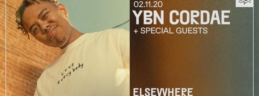 YBN Cordae @ Elsewhere (Hall) PopGun & Governors Ball Present 16+