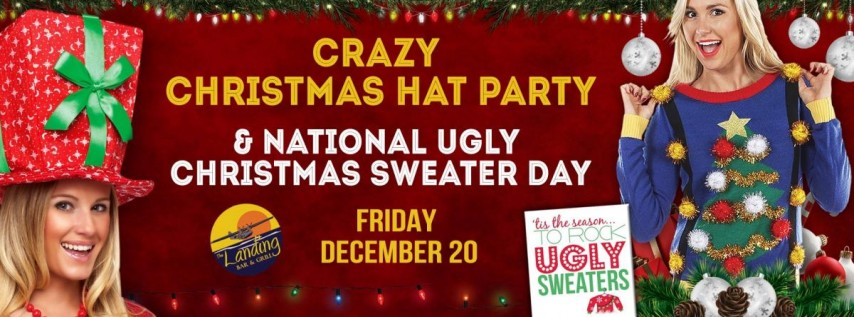 Crazy Christmas Hat Party at The Landing Bar & Grill!