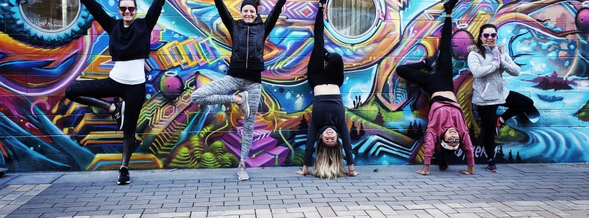 Skylines Yoga + Beer at Epic Brewing With Natalie