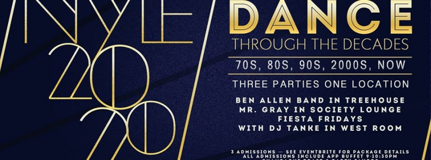 NYE Bash - Dance through the Decades with Society