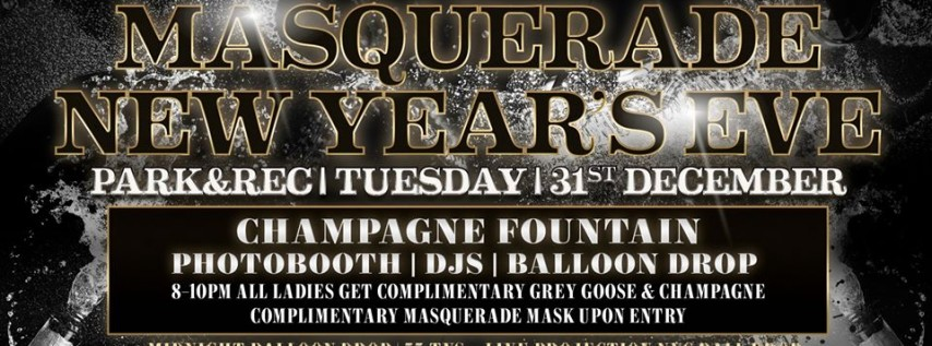 New Year's Eve Masquerade!