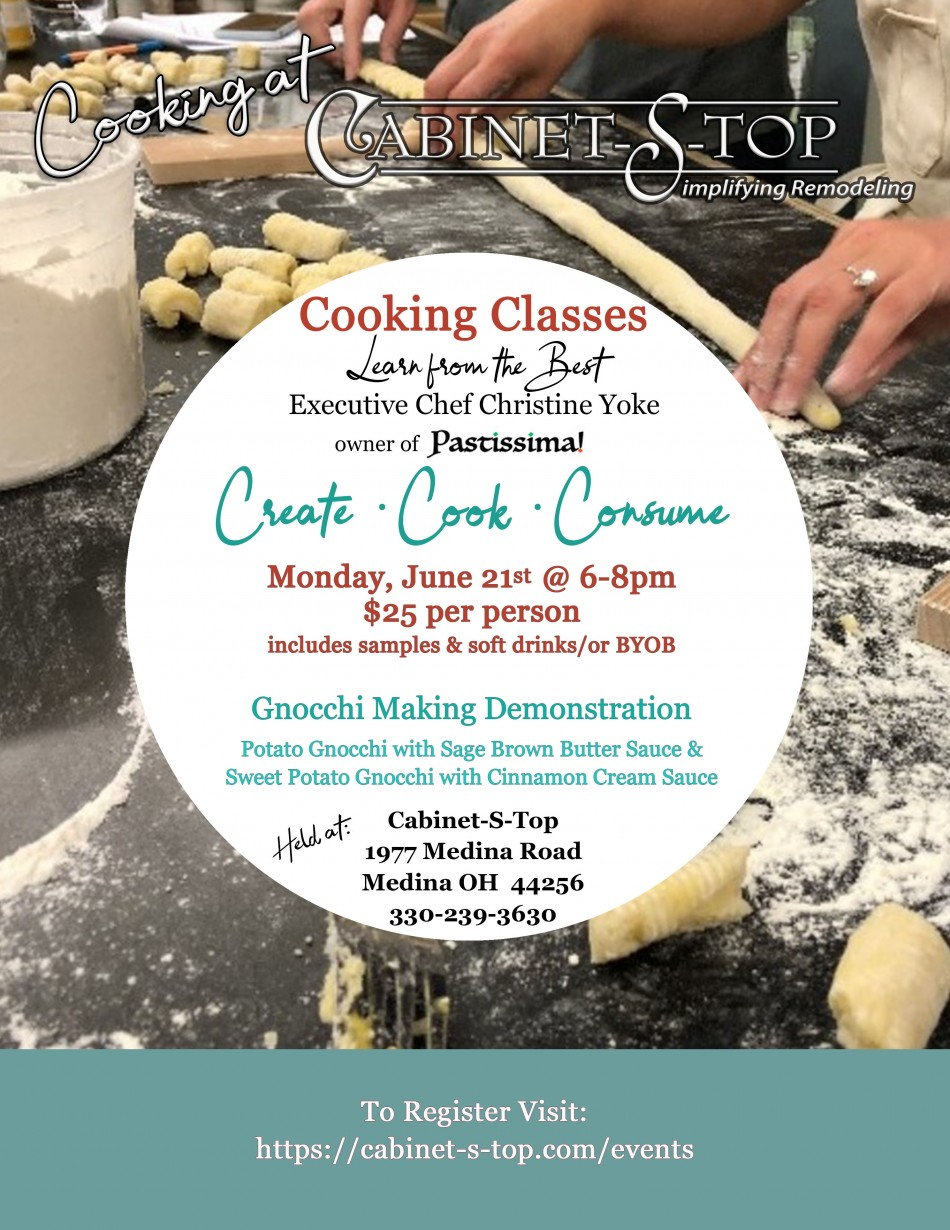 Cooking at Cabinet-S-Top: Gnocchi Making Demonstration