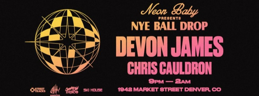 New Year's Eve Ball Drop at Neon Baby