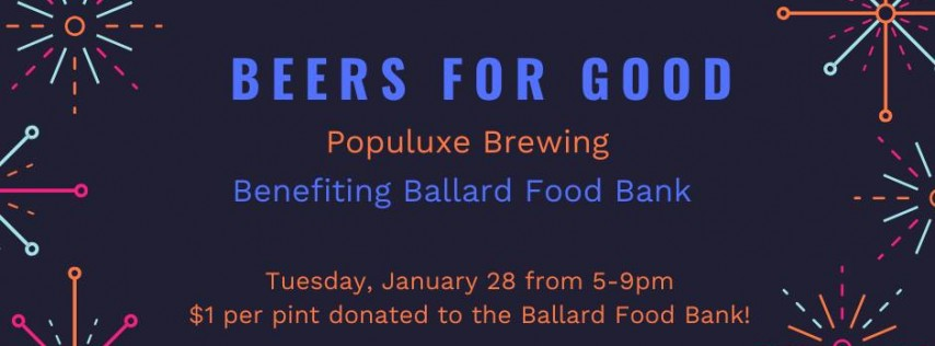 Beers for Good: Benefiting Ballard Food Bank