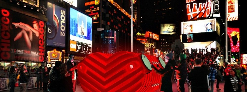 Valentine's Day in Times Square 2020