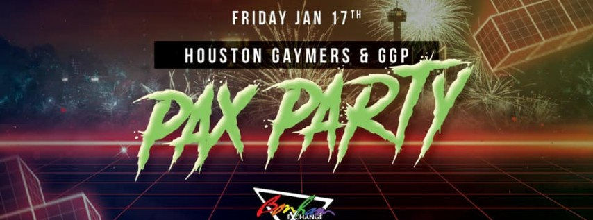 Houston Gaymers PAX Party 2020