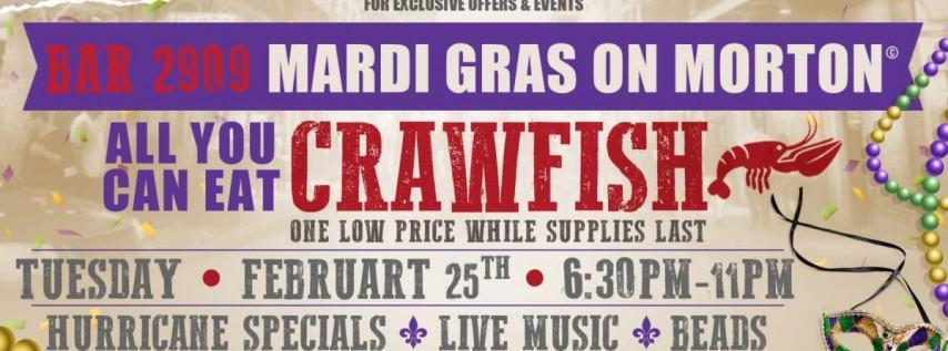 Mardi Gras on Morton Fat Tuesday Crawfish Boil