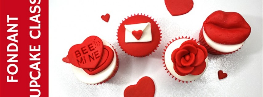 Valentine's Cupcake Fondant Toppers Class