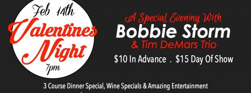 Valentines Day Evening w/ Bobbie Storm & Tim Demars Trio