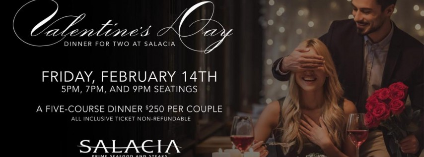 Valentine's Day Dinner for Two at Salacia
