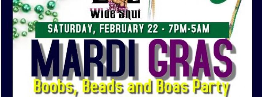 Mardi Gras Party at EYZ WIDE SHUT