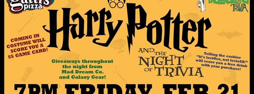 Harry Potter and the Night of Trivia at Mr. Gatti's Pizza