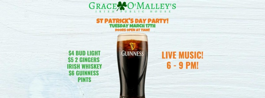St Patrick's Day at Grace O'Malley's!