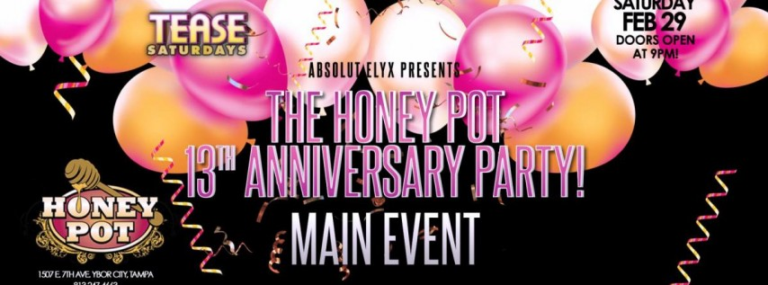 Anniversary weekend Main Event - $1000 Balloon Drop-Free Drinks!