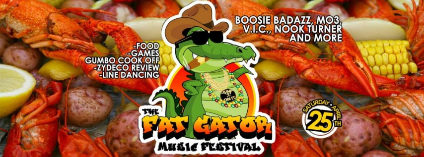 The Fat Gator Music Festival with Boosie Badazz, Mo3 & more.