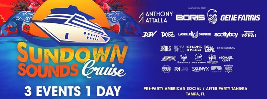 Sundown Sounds Cruise Tampa's Largest Floating Dance Music Fest
