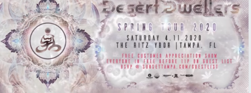 Desert Dwellers - Spring Tour 2020 - Free Guest List