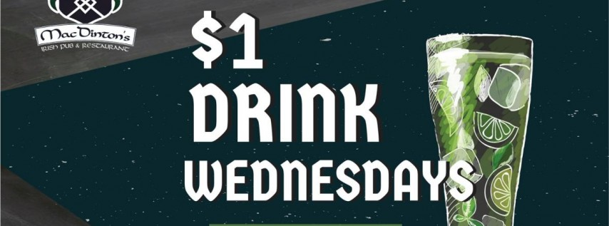 $1 Drink Wednesday's