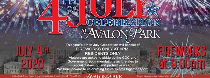 Fourth of July at Avalon Park Wesley Chapel