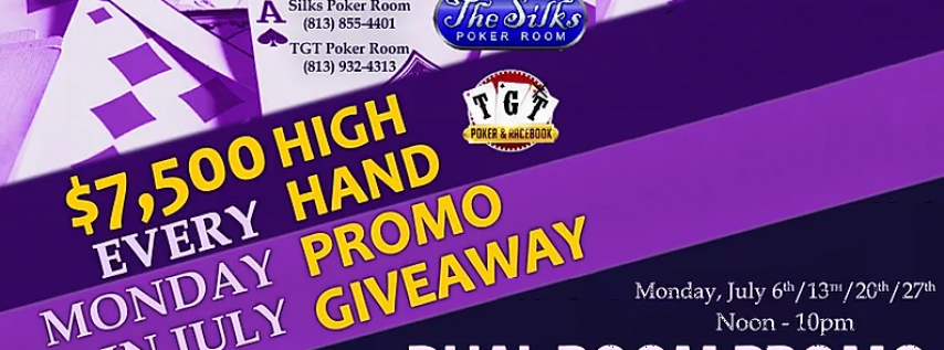 TGT & Silks Poker Dual Room Promo 8/10