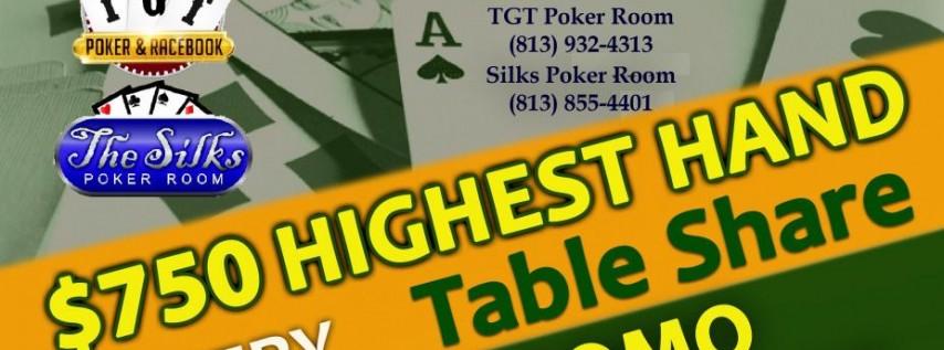 TGT & Silks Poker Dual Room Promo October 26th