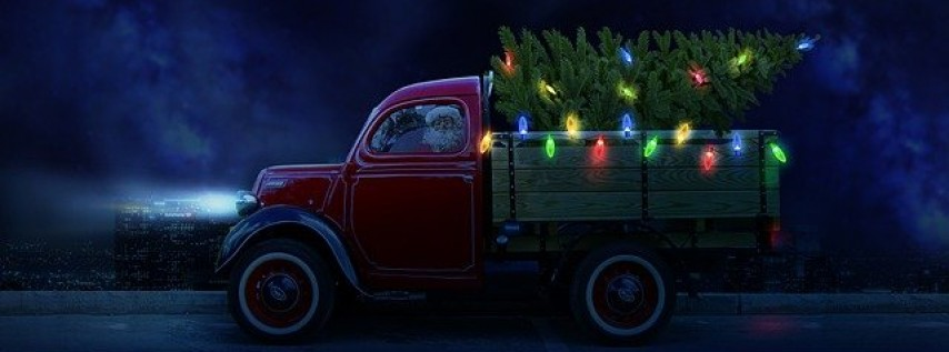 Christmas Truck Wood Sign