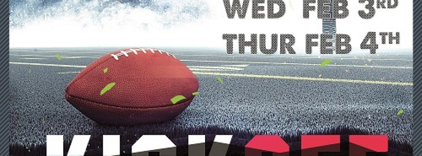 Kickoff Week Thursday: February 4th