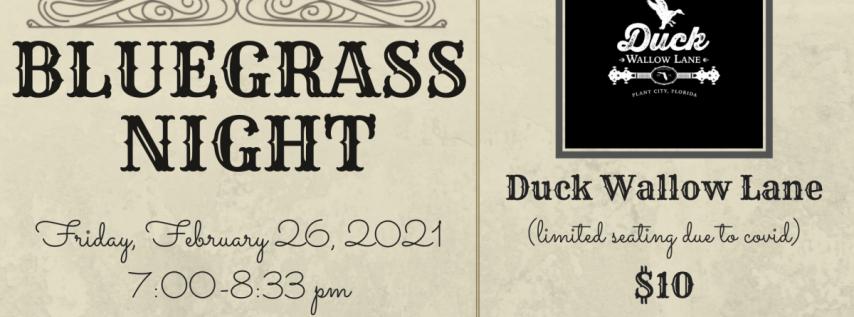 Bluegrass Night - Duck Wallow Lane