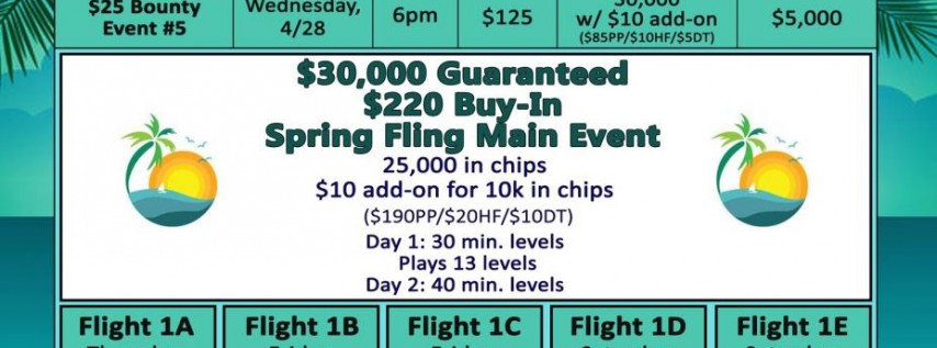 Silks Spring Fling Main Event $30,000 Guaranteed